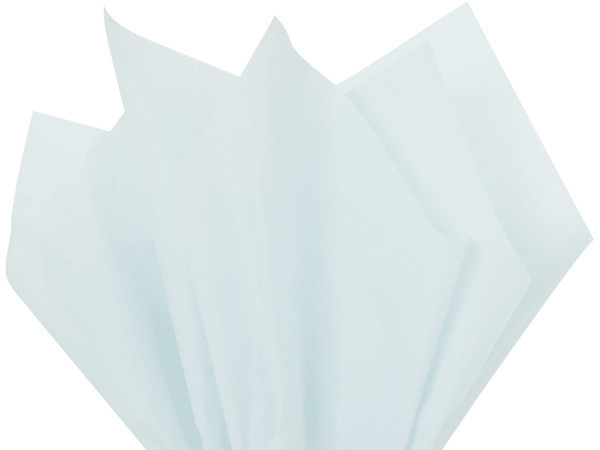 "Blue Breeze Color Tissue Paper, 20x30"", Bulk 480 Sheet Flat Pack"