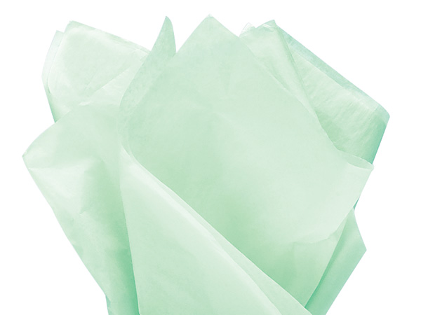 "Blue Pistachio Color Tissue Paper, 20x30"", Bulk 480 Sheet Flat Pack"