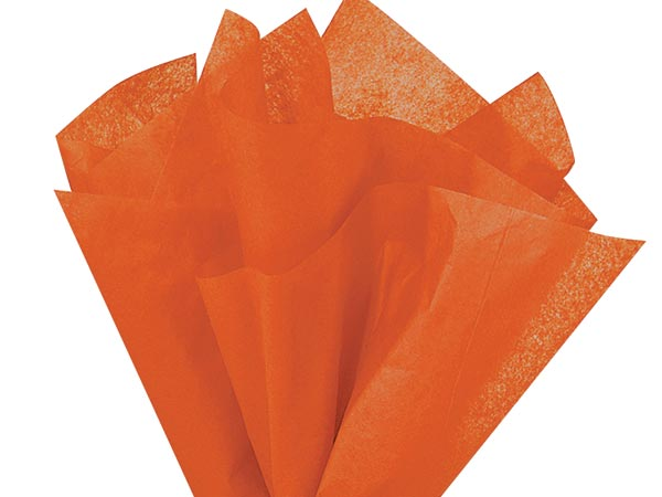 "Burnt Sienna Color Tissue Paper, 20x30"", Bulk 480 Sheet Flat Pack"