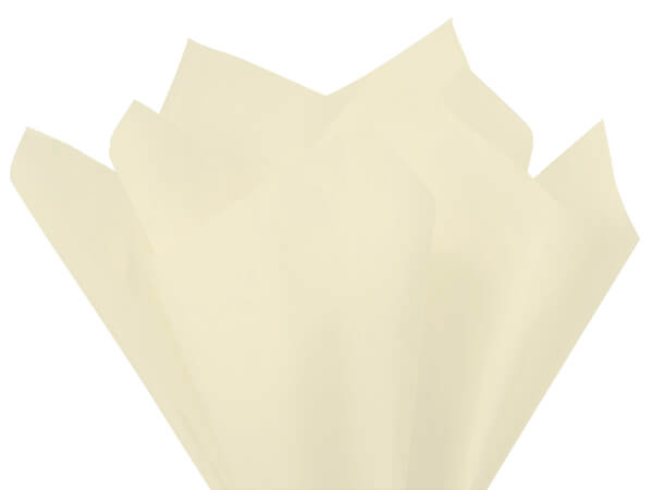 "Cream Color Tissue Paper, 20x30"", Bulk 480 Sheet Flat Pack"