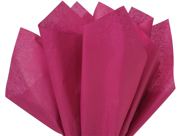 "Cranberry Color Tissue Paper, 20x30"", Bulk 480 Sheet Flat Pack"