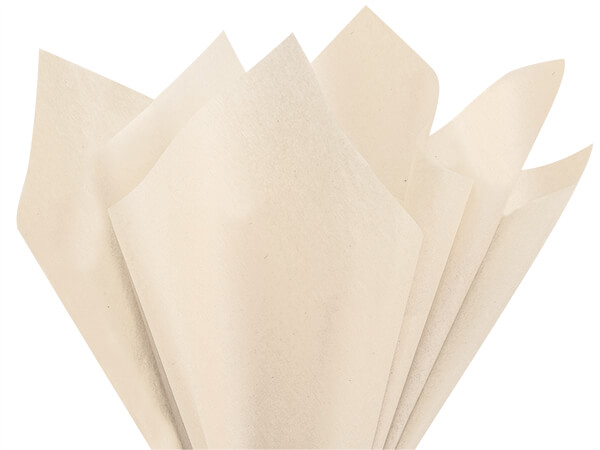 "Dune Beige Color Tissue Paper, 20x30"", Bulk 480 Sheet Flat Pack"