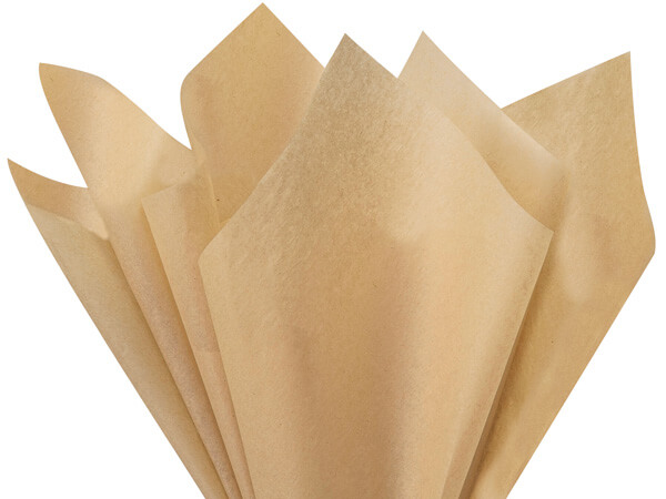 "Desert Tan Color Tissue Paper, 20x30"", Bulk 480 Sheet Flat Pack"