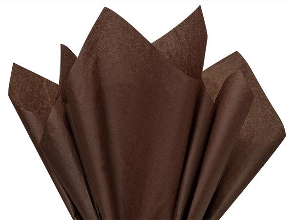 "Espresso Color Tissue Paper, 20x30"", Bulk 480 Sheet Flat Pack"