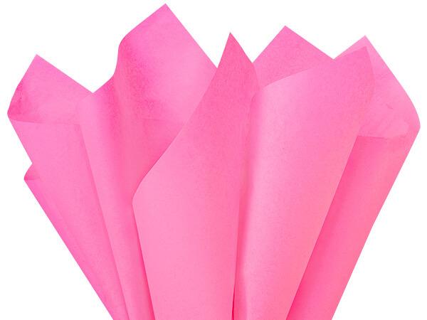 "Fuchsia Pink Color Tissue Paper, 20x30"", Bulk 480 Sheet Flat Pack"