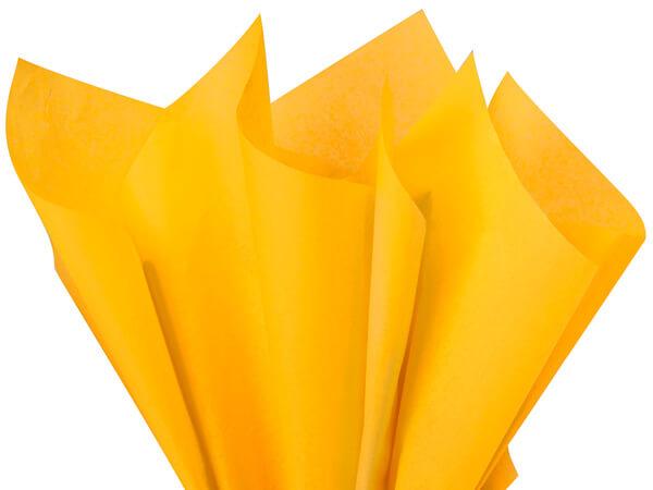 """Goldenrod Color Tissue Paper, 20x30"""", Bulk 480 Sheet Flat Pack"""