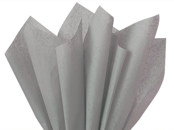 "Gray Color Tissue Paper, 20x30"", Bulk 480 Sheet Flat Pack"