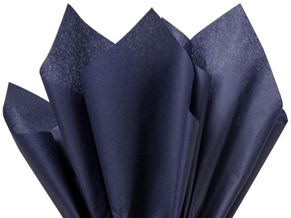 "Navy Blue Color Tissue Paper, 20x30"", Bulk 480 Sheet Flat Pack"