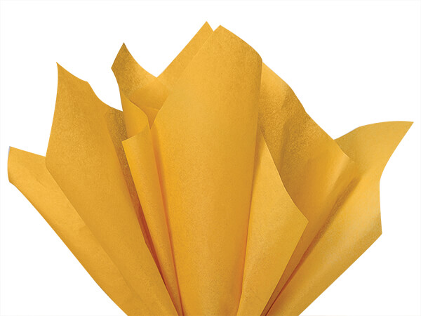 "Noble Gold Color Tissue Paper, 20x30"", Bulk 480 Sheet Flat Pack"