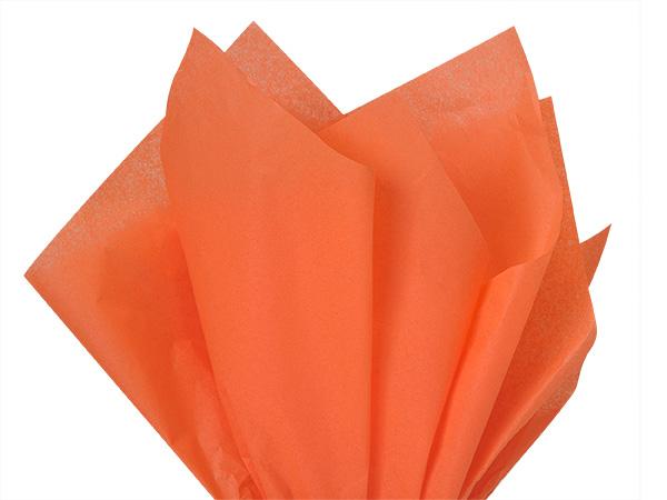 """Poppy Color Tissue Paper, 20x30"""", Bulk 480 Sheet Flat Pack"""
