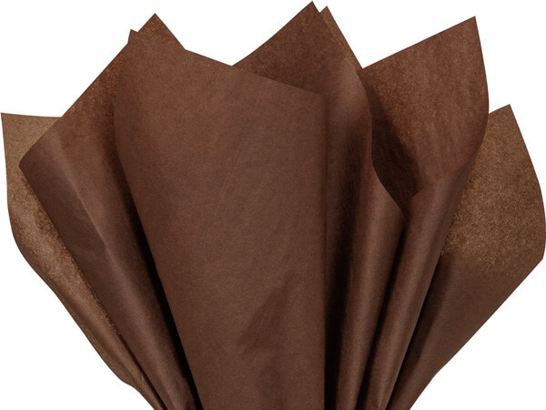 "Raw Sienna Color Tissue Paper, 20x30"", Bulk 480 Sheet Flat Pack"
