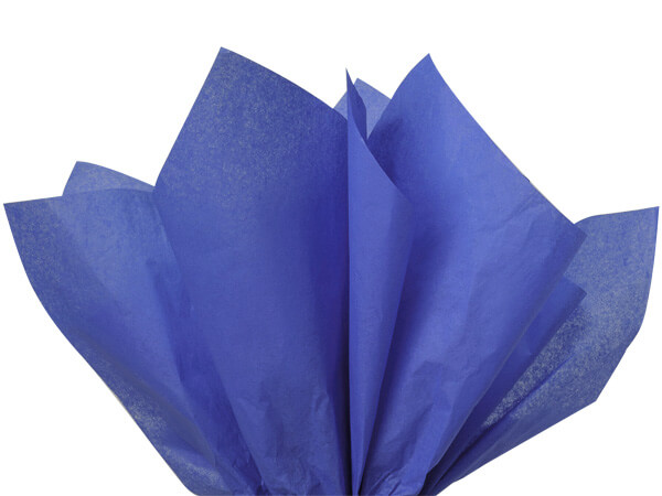 "Sapphire Blue Color Tissue Paper, 20x30"", Bulk 480 Sheet Flat Pack"