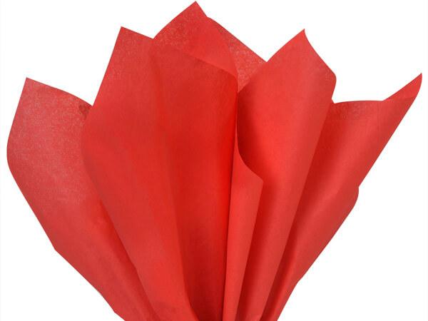 "Light Scarlet Color Tissue Paper, 20x30"", Bulk 480 Sheet Flat Pack"