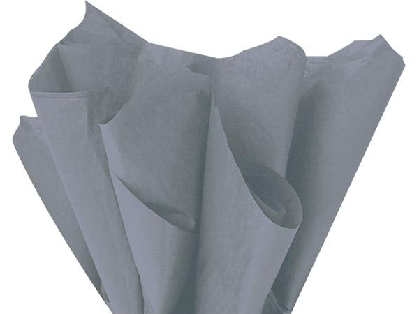"Shadow Gray Color Tissue Paper, 20x30"", Bulk 480 Sheet Flat Pack"