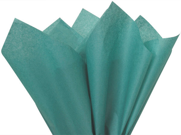 "Teal Color Tissue Paper, 20x30"", Bulk 480 Sheet Flat Pack"