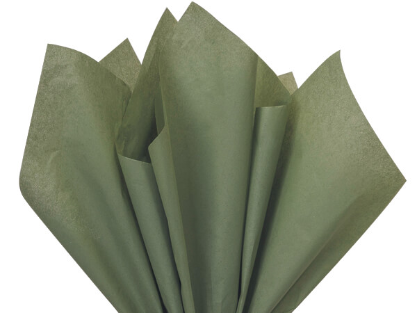 "Tapestry Green Color Tissue Paper, 20x30"", Bulk 480 Sheet Flat Pack"