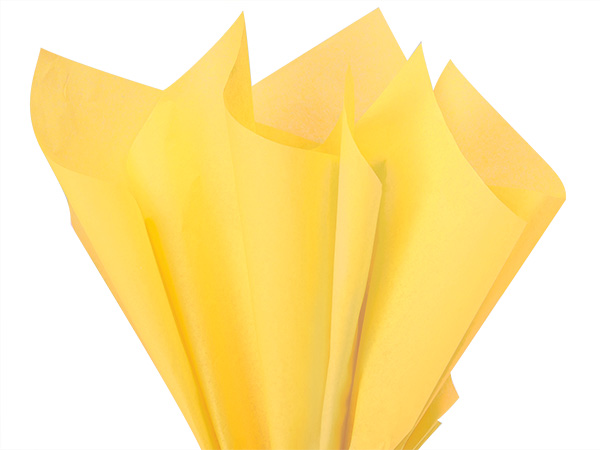 "Yellow Color Tissue Paper, 20x30"", Bulk 480 Sheet Flat Pack"