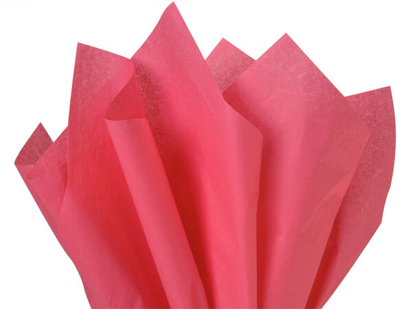 "Azalea Pink Color Tissue Paper, 20x30"", 24 Soft Fold Sheets"
