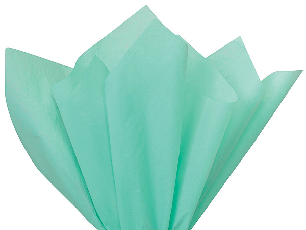 "Aqua Blue Color Tissue Paper, 20x30"", 24 Sheet Pack"
