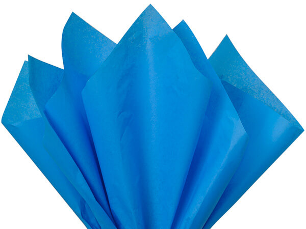 "Brilliant Blue Tissue Paper 20x30"" 24 Sheet Pack"