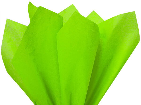 "Bright Lime Color Tissue Paper, 20x30"", 24 Sheet Pack"