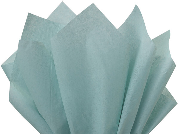 "Blue Haze Color Tissue Paper, 20x30"", 24 Soft Fold Sheets"