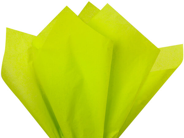 "Citrus Green Color Tissue Paper, 20x30"", 24 Soft Fold Sheets"