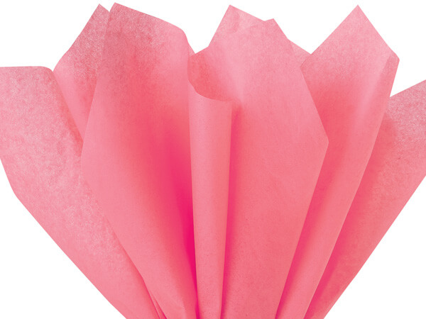 "Coral Rose Tissue Paper 20x30"" 24 Sheet Pack"
