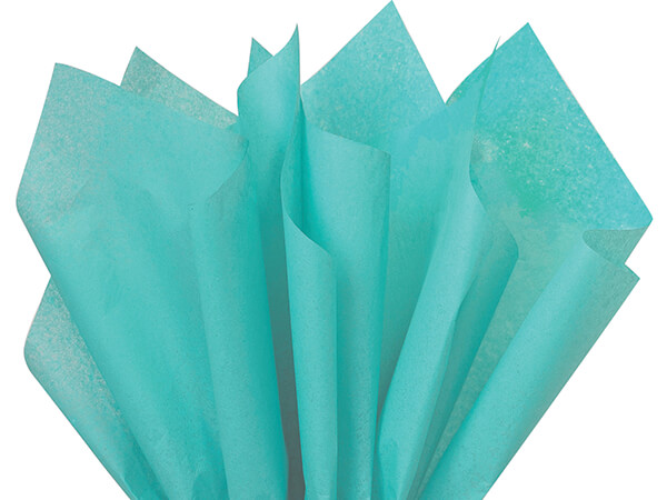 "Caribbean Teal Tissue Paper 20x30"" 24 Sheet Pack"