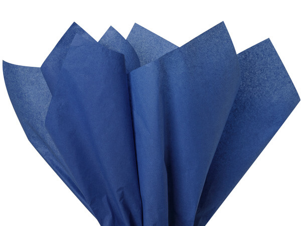 "Dark Blue Color Tissue Paper, 20x30"", 24 Sheet Pack"