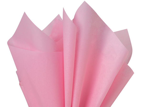 "Dark Pink Color Tissue Paper, 20x30"", 24 Soft Fold Sheets"