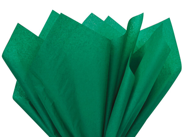 "Emerald Green Color Tissue Paper, 20x30"", 24 Sheet Pack"