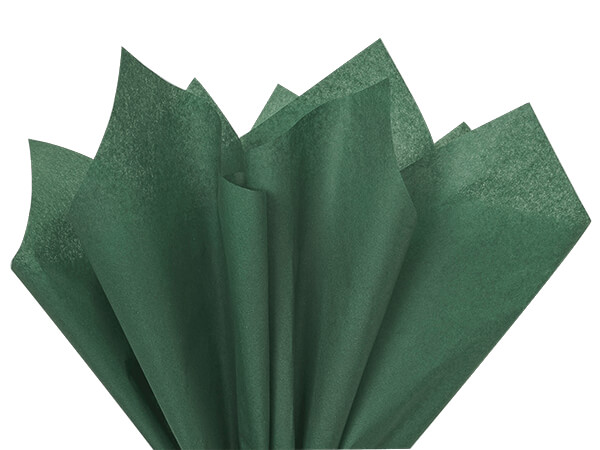 "Forest Green Color Tissue Paper, 20x30"", 24 Sheet Pack"