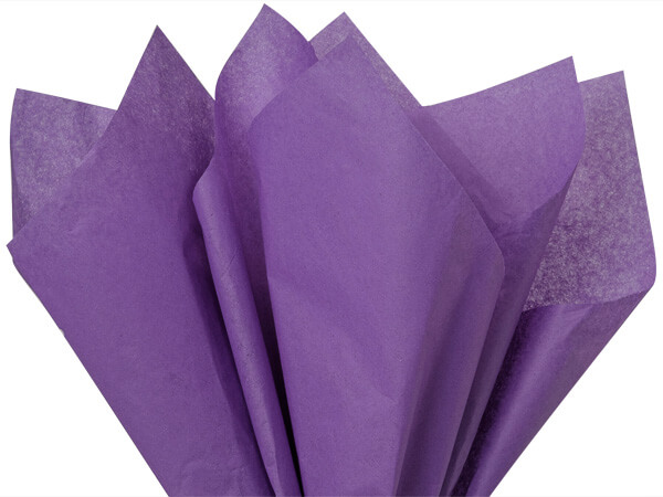 "Lavender Color Tissue Paper, 20x30"", 24 Soft Fold Sheets"