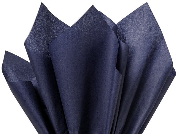 "Navy Blue Color Tissue Paper, 20x30"", 24 Sheet Pack"