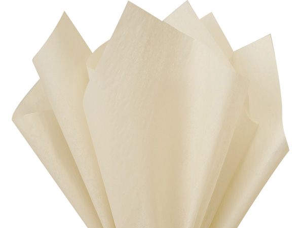 "Oatmeal Color Tissue Paper, 20x30"", 24 Soft Fold Sheets"