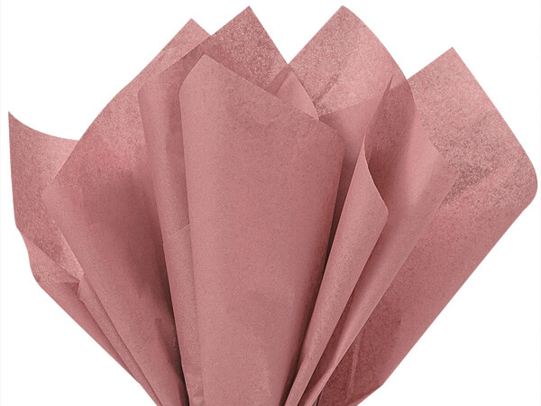 "Rose Gold Color Tissue Paper, 20x30"", 24 Soft Fold Sheets"