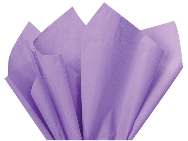 "Soft Lavender Color Tissue Paper, 20x30"", 24 Soft Fold Sheets"