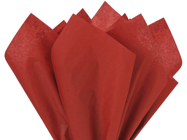 "Scarlet Red Color Tissue Paper, 20x30"", 24 Soft Fold Sheets"
