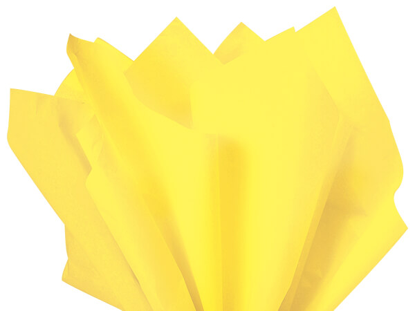 "Light Yellow Color Tissue Paper, 20x30"", 24 Soft Fold Sheets"