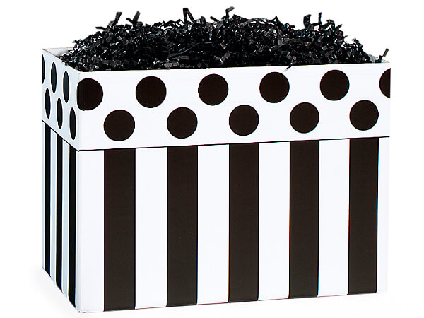 *Large Domino Alley Basket Boxes 10-1/4x6x7-1/2""