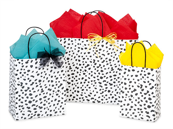 Dalmation Dots Paper Shopping Bags