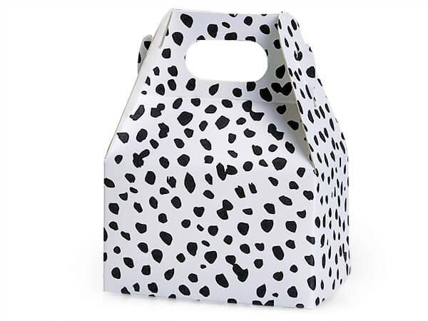 """Dalmatian Dots Mini Gable Box, 4x2.5x2.5"""", 6 Pack"""