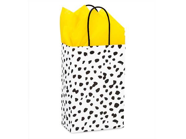 "Dalmatian Dots Paper Shopping Bag, Rose 5.5x3.25x8.5"", 25 Pack"