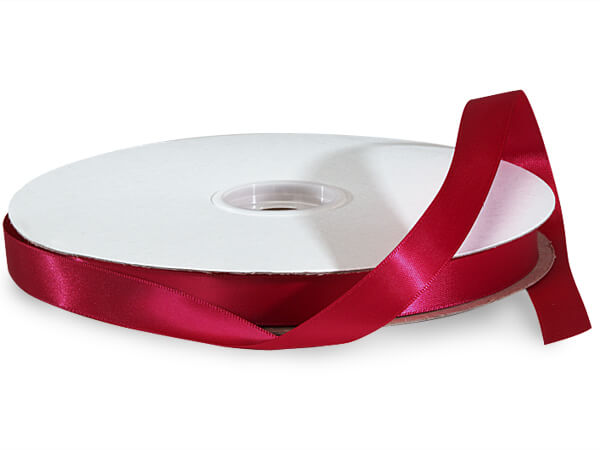 "Scarlet Red Premium Double Faced Satin Ribbon, 5/8""x100 yards"
