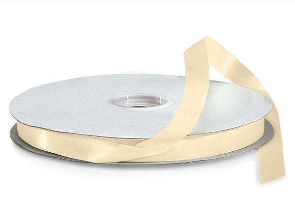 "Ivory Premium Double Faced Satin Ribbon, 5/8""x100 yards"