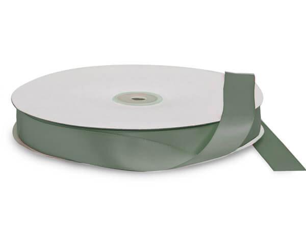 "Dark Shale Green Premium Double Faced Satin Ribbon, 7/8""x100 yards"