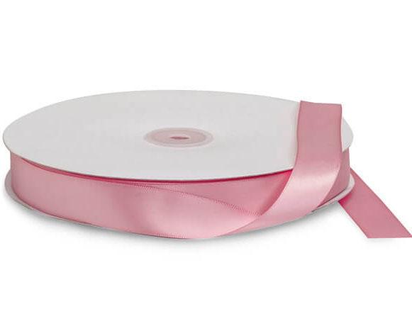 "Pink Rose Premium Double Faced Satin Ribbon, 7/8""x100 yards"