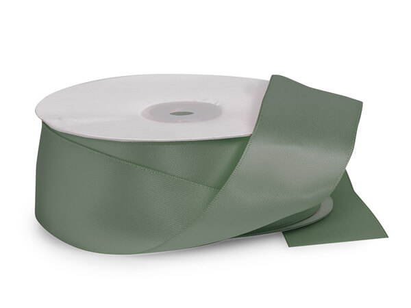 "Dark Shale Green Premium Double Faced Satin Ribbon, 1-1/2""x50 yards"