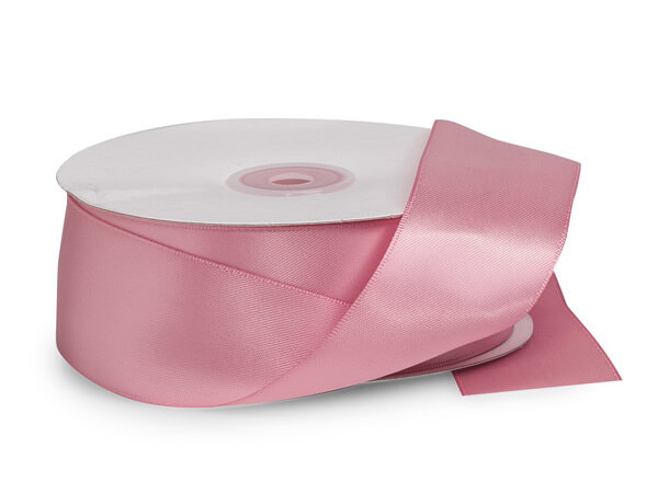 "Pink Rose Premium Double Faced Satin Ribbon, 1-1/2""x50 yards"